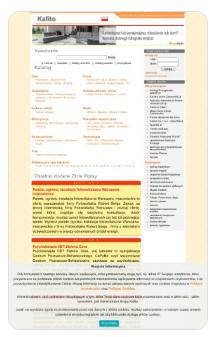 Zrzut ekranu katalogu stron http://kafito.pl