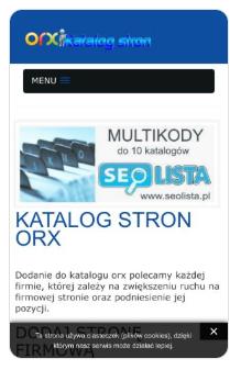 Zrzut ekranu katalogu stron http://orx.pl
